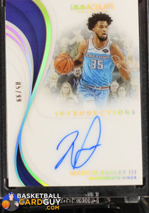Marvin Bagley III 2018-19 Immaculate Collection Immaculate Introductions Autographs #/99 - Basketball Cards