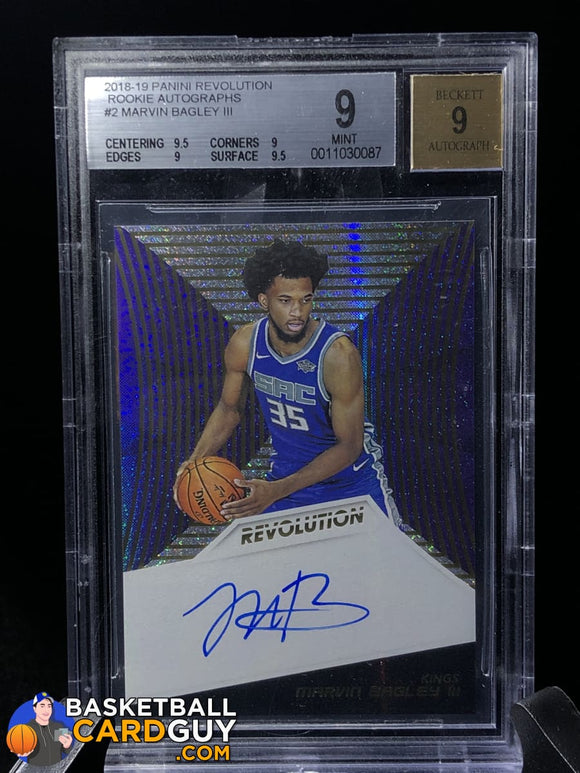 Marvin Bagley III 2018-19 Panini Revolution Rookie Autographs #2 BGS 9 - Basketball Cards
