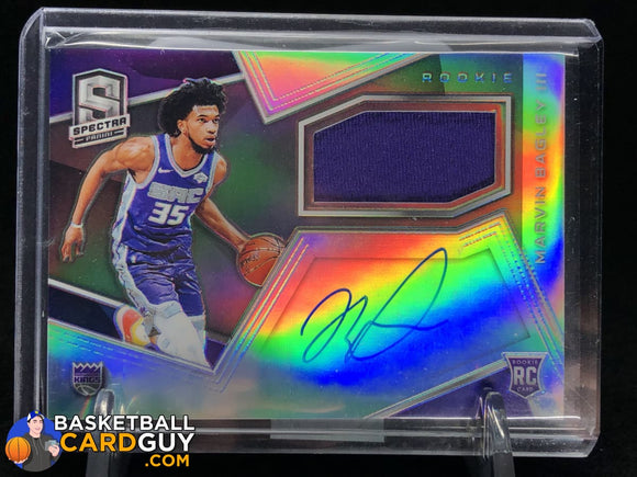 Marvin Bagley III 2018-19 Panini Spectra #118 JSY AU - Basketball Cards
