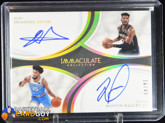 Marvin Bagley III/Deandre Ayton 2018-19 Immaculate Collection Dual Autographs #/49 autograph, basketball card, numbered, rookie card