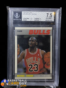 Michael Jordan 1987-88 Fleer #59 BGS 7.5 - Basketball Cards