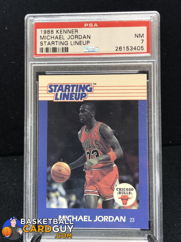 Michael Jordan 1988 Kenner Starting Lineup Cards #40 PSA 7 - Basketball Cards