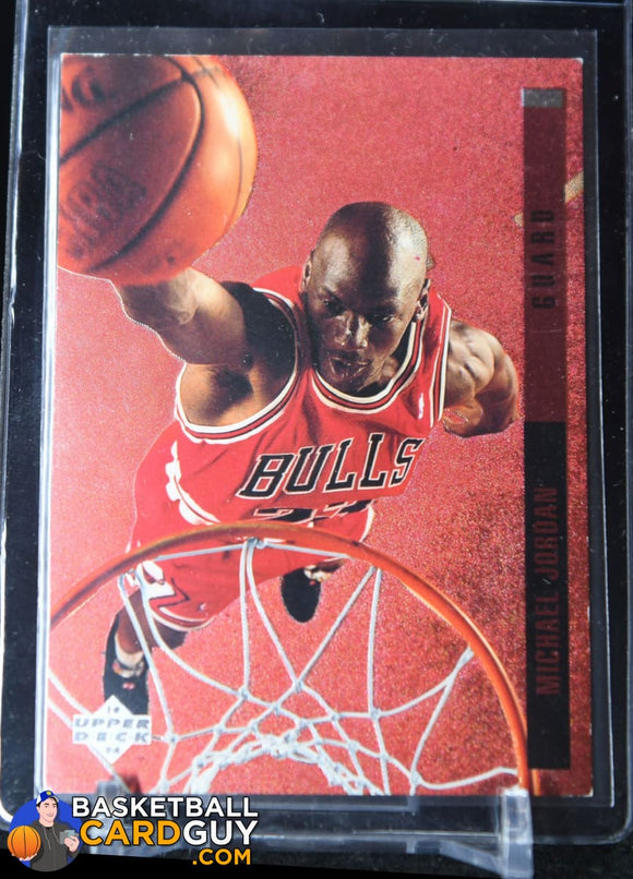 Michael Jordan 1993-94 Upper Deck SE Behind the Glass #G11 - Basketball Cards