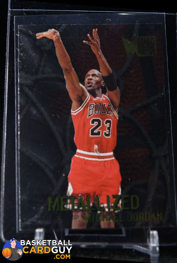 Michael Jordan 1996-97 Metal #128 Metallized - Basketball Cards