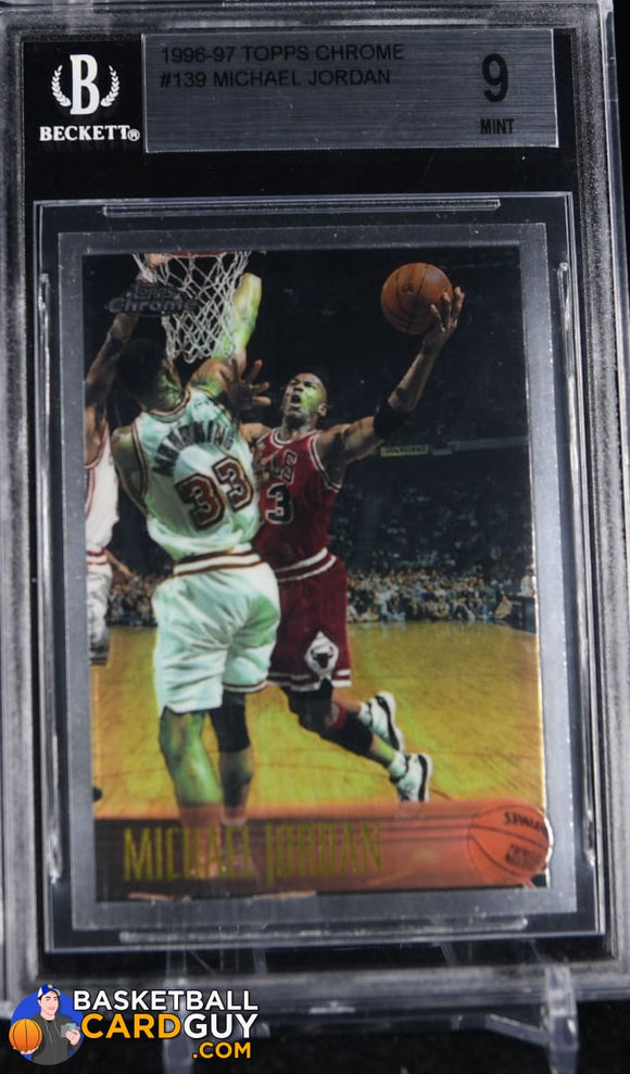 Michael Jordan 1996-97 Topps Chrome #139 BGS 9 MINT - Basketball Cards