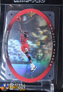 Michael Jordan 1996 SPx Holoview Heroes #H1 - Basketball Cards