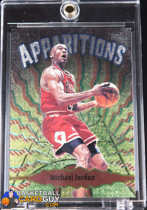Michael Jordan 1998-99 Topps Apparitions #A15 90's insert, basketball card