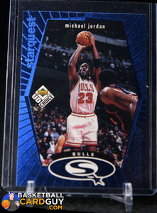 Michael Jordan 1998-99 UD Choice StarQuest Blue #SQ30 - Basketball Cards