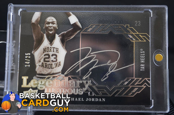 Michael Jordan 2013-14 UD Black Legendary Lustrous Signatures /25 - Basketball Cards