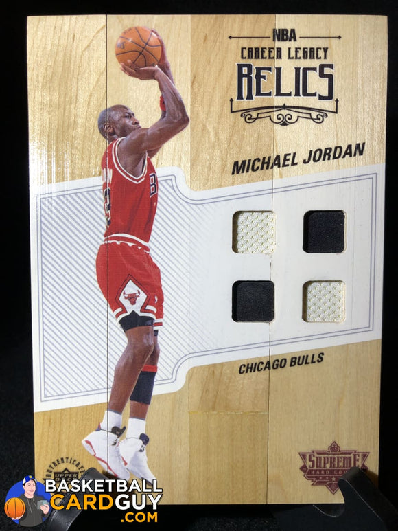 Michael Jordan 2016-17 Supreme Hardcourt Jumbo Quad Jersey Relics - Basketball Cards