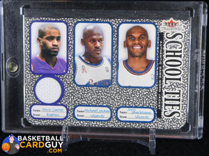 Michael Jordan / Vince Carter /Jerry Stackhouse 2002-03 Fleer Tradition School Ties Game-Used Singles #ST7A - Basketball Cards