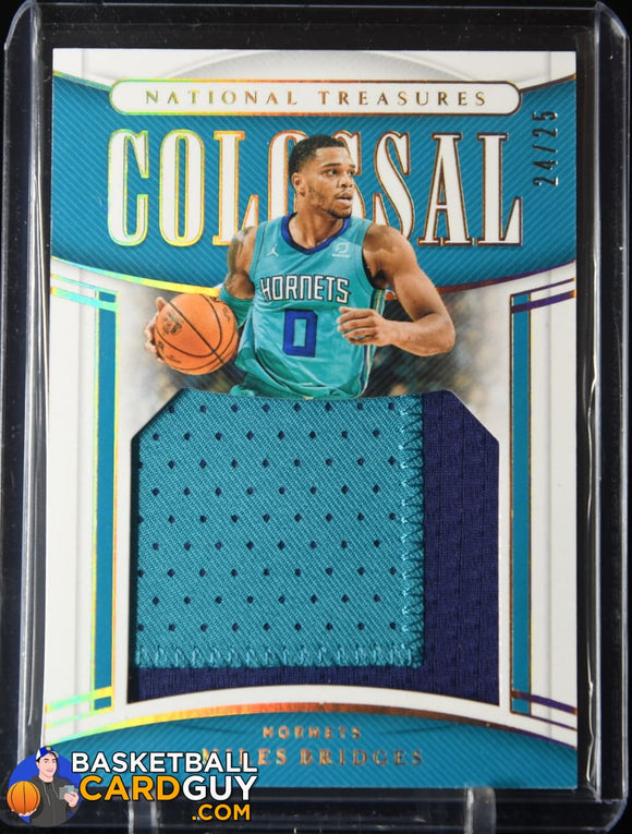 Miles Bridges 2019-20 Panini National Treasures Colossal Materials Prime Patch #/25 basketball card, numbered, patch