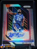Mitchell Robinson 2018-19 Panini Prizm Rookie Signatures Prizms Silver #12 autograph, basketball card, numbered, prizm, refractor