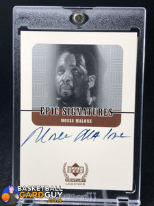 Moses Malone 1999 Upper Deck Century Legends Epic Signatures - Basketball Cards