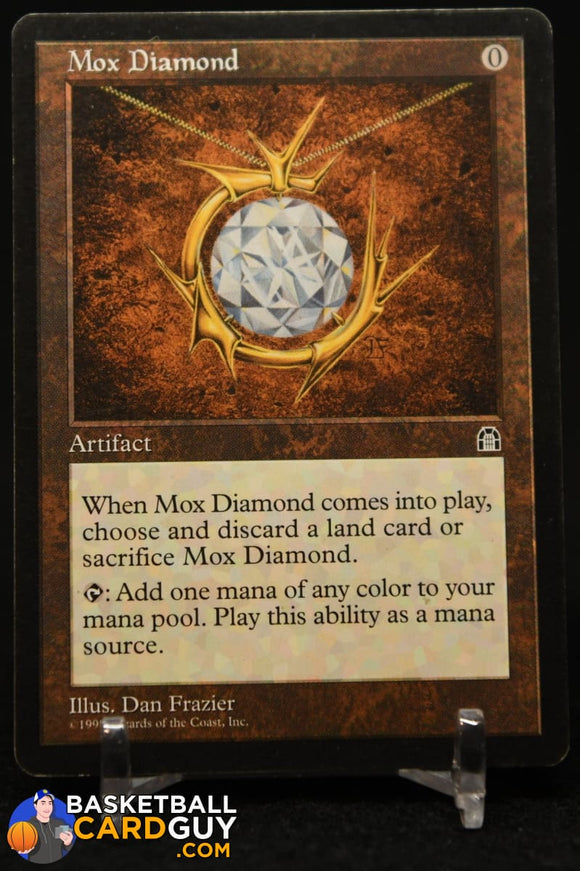Mox Diamond 1998 Magic The Gathering Stronghold #138 R magic the gathering
