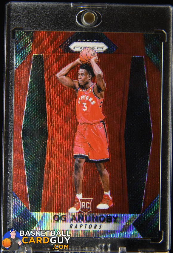 OG Anunoby 2017-18 Panini Prizm Prizms Ruby Wave #38 basketball card, rookie card