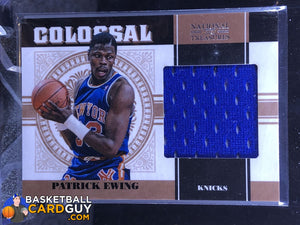 Patrick Ewing 2010-11 Playoff National Treasures Colossal Materials #/99 - Basketball Cards