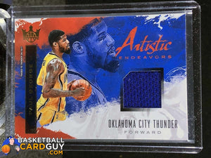 Paul George 2017-18 Court Kings Artistic Endeavors Jerseys - Basketball Cards