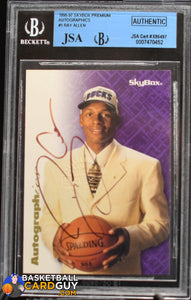 Ray Allen 1996-97 SkyBox Premium Autographics #1 BGS Authentic RC - Basketball Cards