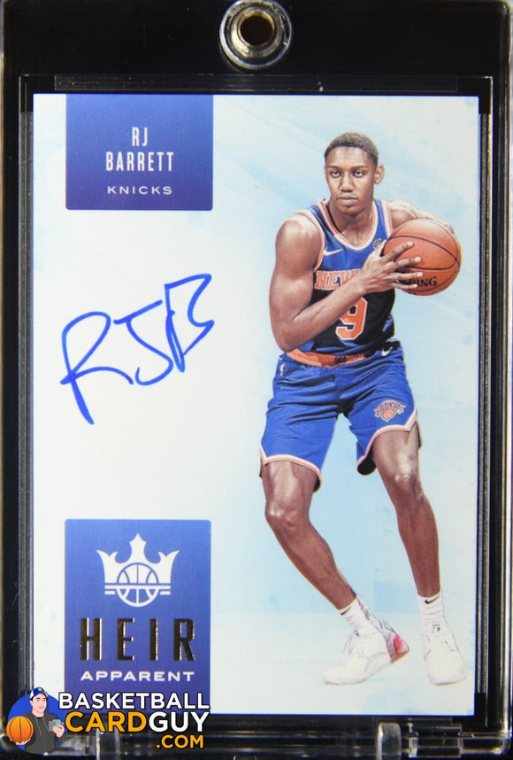 RJ Barrett 2019-20 Court Kings Heir Apparent Autographs #/125 autograph, basketball card, numbered, rookie card