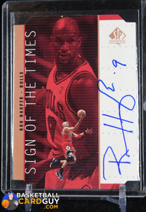 Ron Harper 1998-99 SP Authentic Sign of the Times Bronze #RH - Basketball Cards