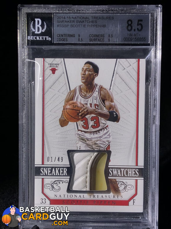 Scottie Pippen 2014-15 Panini National Treasures Sneaker Swatches #/49 BGS 8.5 - Basketball Cards