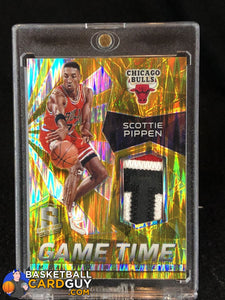 Scottie Pippen 2015-16 Panini Spectra Game Time Materials Prizms Gold Patch #/10 - Basketball Cards