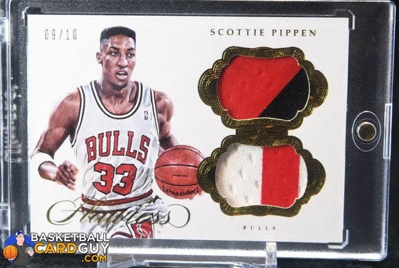 Scottie Pippen 2016-17 Panini Flawless Dual Patches Gold #/10 - Basketball Cards