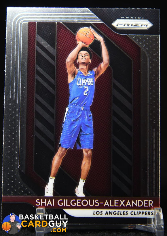 Shai Gilgeous-Alexander 2018-19 Panini Prizm #184 RC basketball card, numbered, rookie card