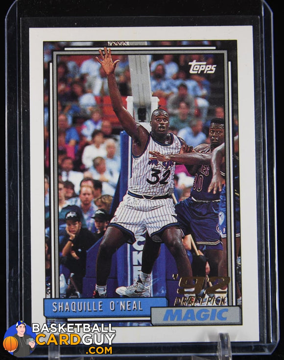 Shaquille O'Neal 1992-93 Topps #362 RC basketball card, rookie card
