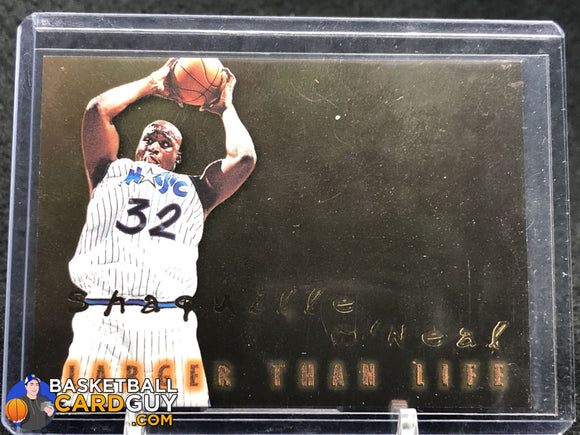 Shaquille O'Neal 1996-97 SkyBox Premium Larger Than Life #B15 - Basketball Cards