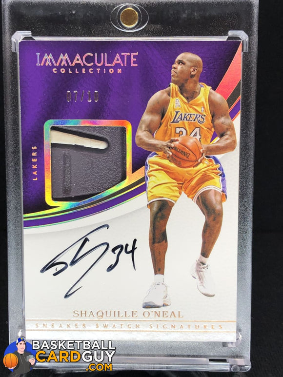 Shaquille O'Neal 2016-17 Immaculate Collection Sneaker Swatch Signatures Gold #/10 - Basketball Cards