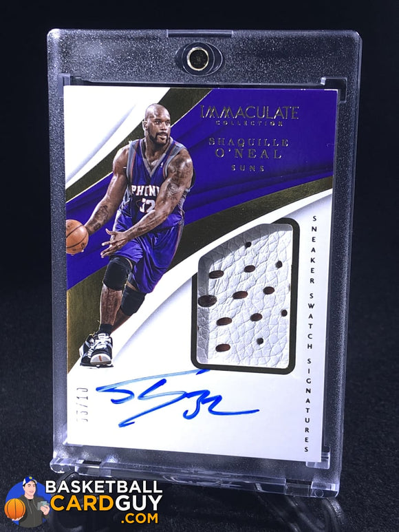 Shaquille O'Neal 2017-18 Immaculate Collection Sneaker Swatches Signatures Jumbo /10 - Basketball Cards