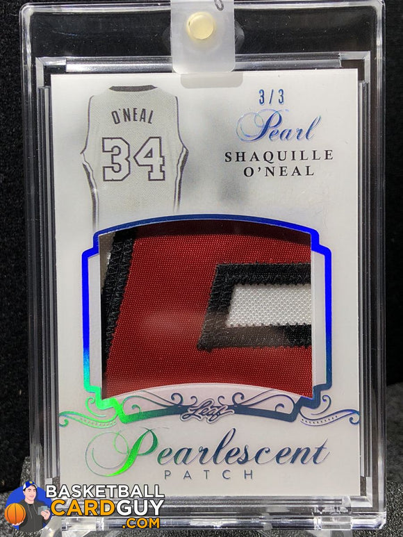 Shaquille Oneal 2017 Leaf Pearl Pearlescent Patches Platinum Holo /3 Basketball Card Numbered Patch