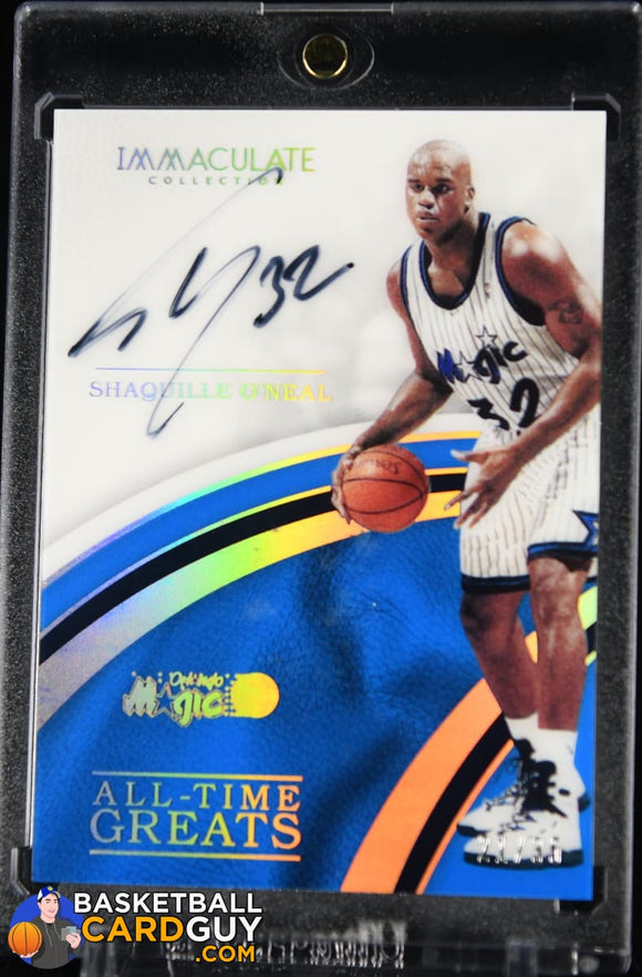 Shaquille O'Neal 2018-19 Immaculate Collection All-Time Greats Signatures #/25 (Imperfect Surface) basketball card