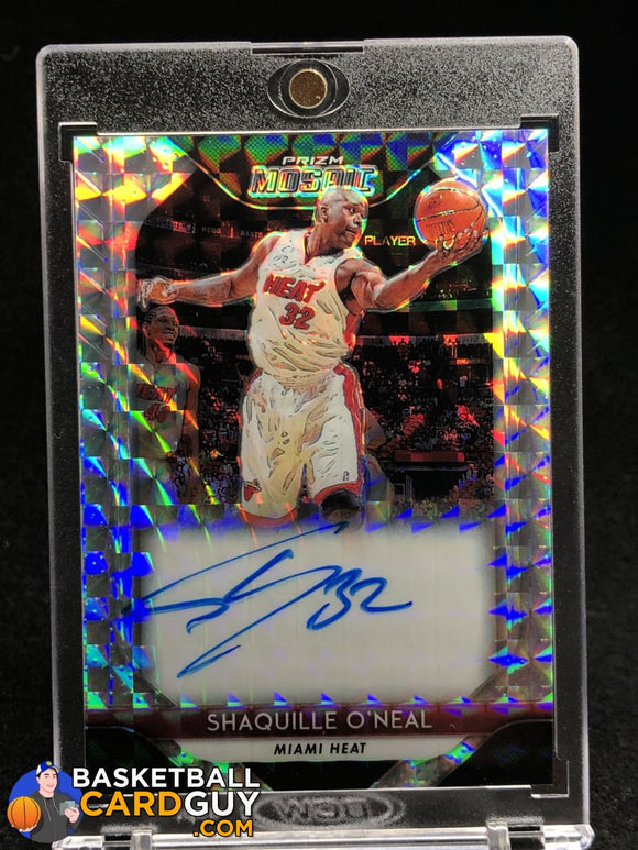 Shaquille ONeal 2018-19 Panini Prizm Mosaic Autographs #29 autograph basketball card prizm