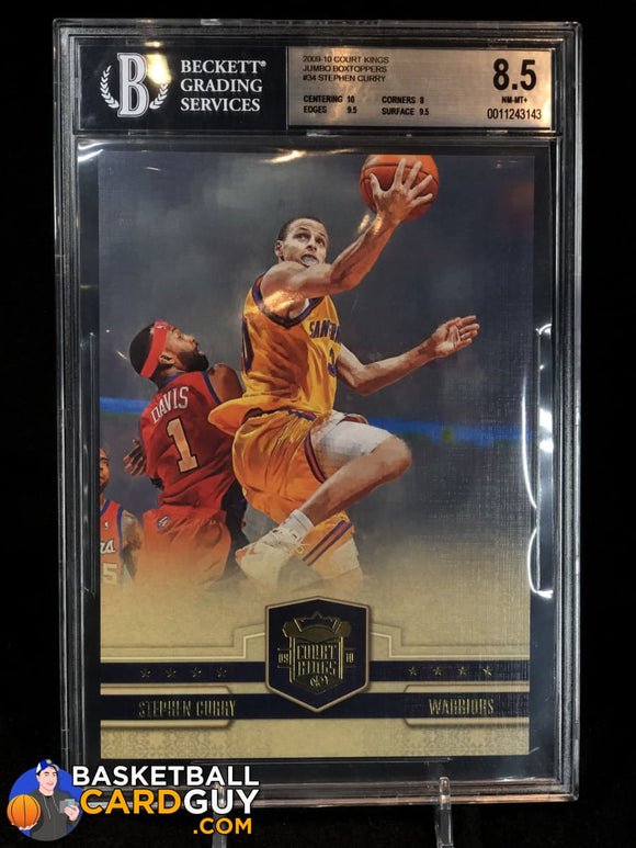 Stephen Curry 2009-10 Jumbo Box Topper Court Kings RC #/349 BGS 8.5 basketball card jersey numbered patch prizm