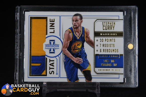 Stephen Curry 2013-14 Innovation Stat Line Jerseys Prime #/25 basketball card, jersey, numbered