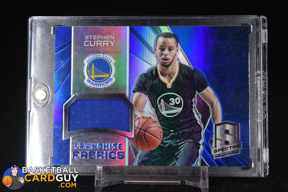 Stephen Curry 2014-15 Panini Spectra Franchise Fabrics #/25 basketball card, jersey, numbered