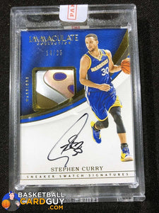 Stephen Curry 2016-17 Immaculate Collection Sneaker Swatch Signatures Shoe - Basketball Cards