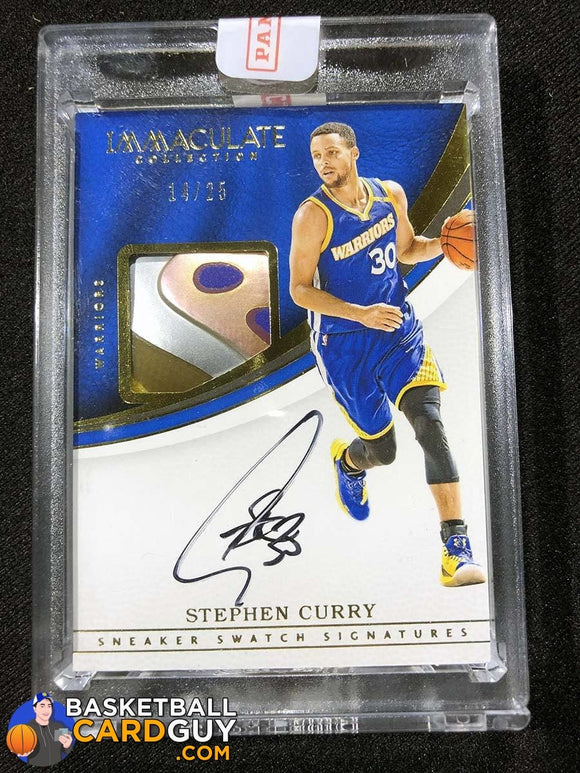 Stephen Curry 2016-17 Immaculate Collection Sneaker Swatch Signatures Shoe Autograph Basketball Card Numbered Patch