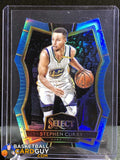 Stephen Curry 2016-17 Select Prizms Light Blue Die-Cut - Basketball Cards