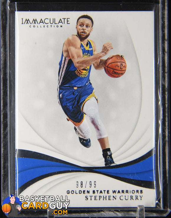 Stephen Curry 2018-19 Immaculate Collection #68 #/99 basketball card, numbered