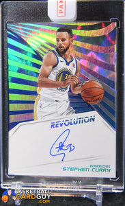 Stephen Curry 2018-19 Panini Revolution Autographs Infinite #3 - Basketball Cards