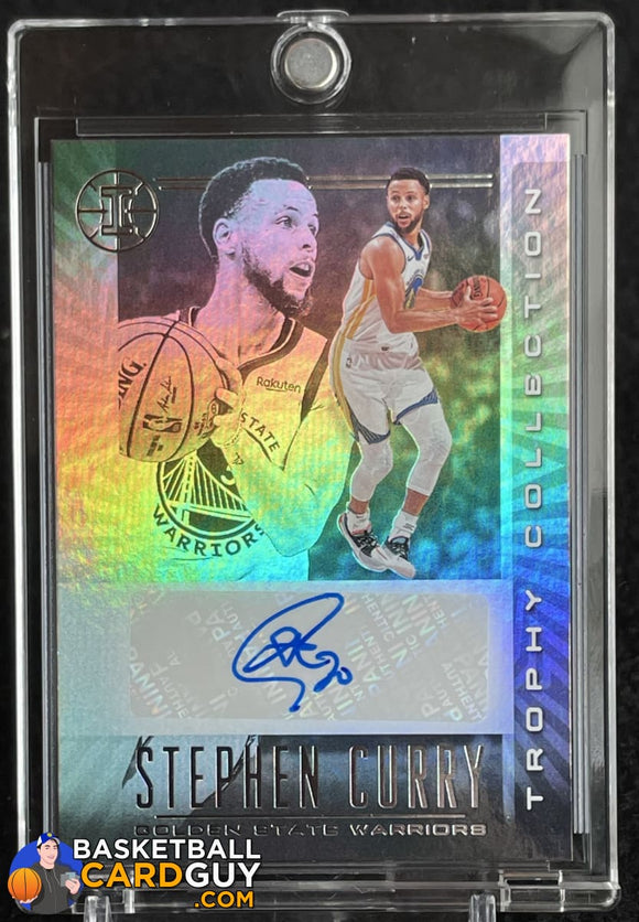 Stephen Curry 2019-20 Panini Illusions Trophy Collection Signatures #12 autograph, basketball card
