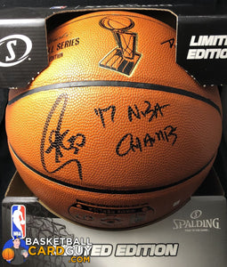 Stephen Curry Official Autographed Nba Finals Basketball Inscribed 17 Basketball Card Guy