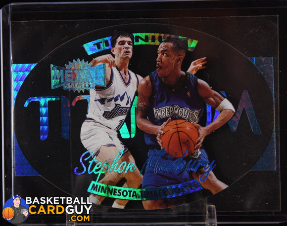 Stephon Marbury 1997-98 Metal Universe Titanium #5 basketball card