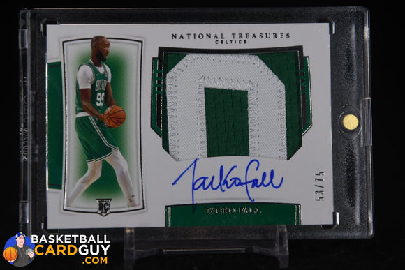 Tacko Fall 2019-20 Panini National Treasures Rookie Patch Autographs Horizontal #144 autograph, basketball card, numbered, patch, rookie