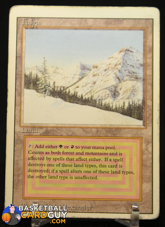Taiga Dual Land 1993 Magic The Gathering Unlimited #283 R magic the gathering