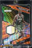 Thon Maker 2016-17 Panini Prizm Rookie Jerseys Prizms Orange Wave #50 #/25 basketball card, numbered, patch, rookie card